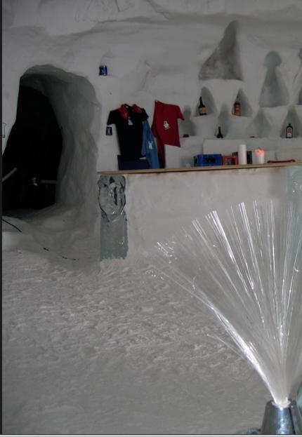 Inside an Igloo in Switzerland