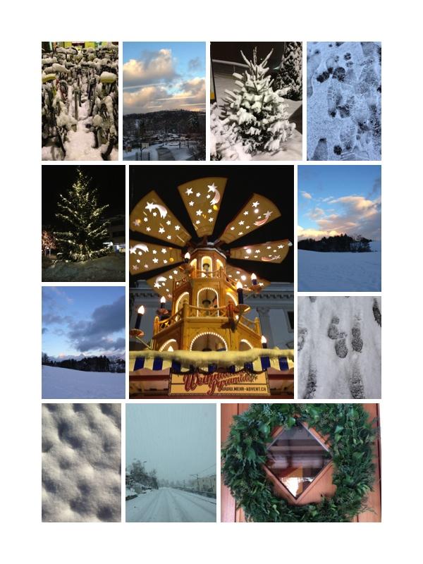 snowy photos of zurich