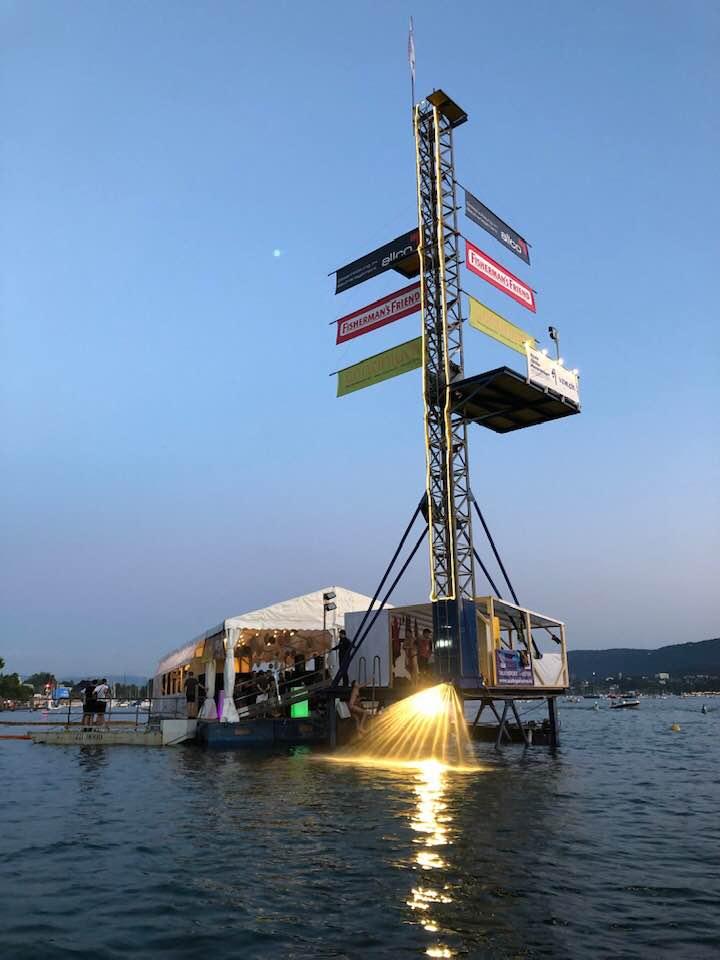Diving platform Züri Fäscht 2019 Zurich Switzerland