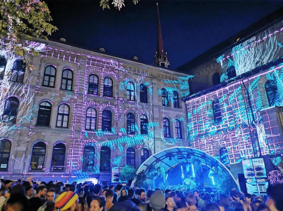 photos of Züri Fäscht 2019 Zurich Switzerland - illuminations