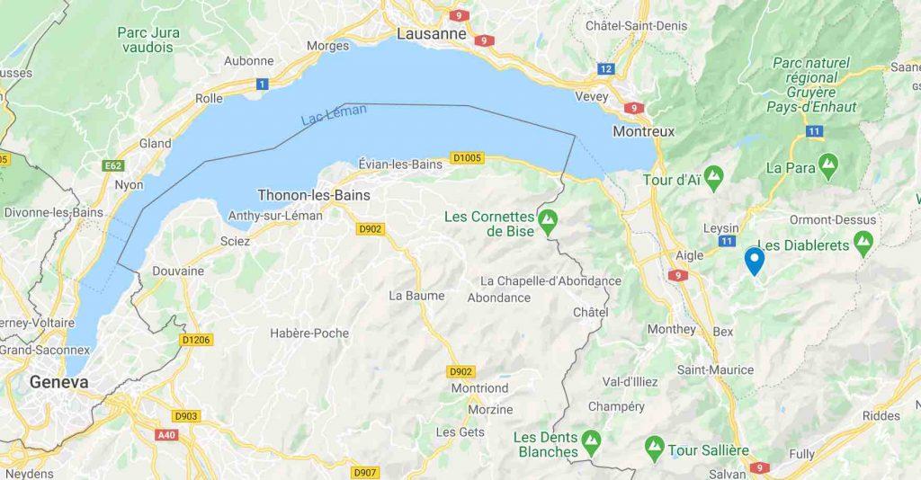 Google Maps Villrs sur Ollon and Diablerets