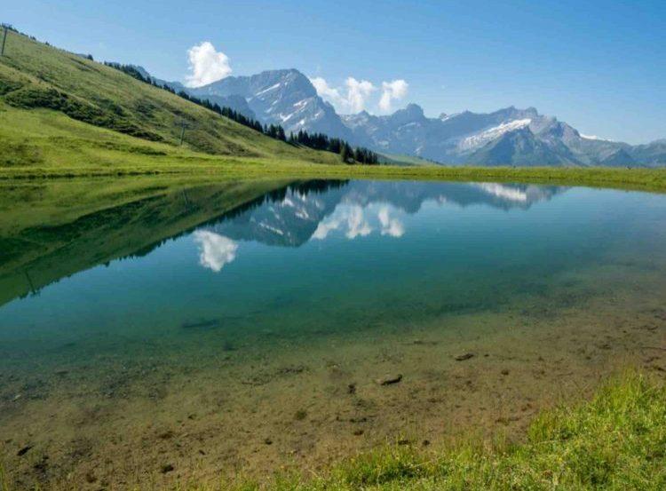 Lake near Villars Switzerland