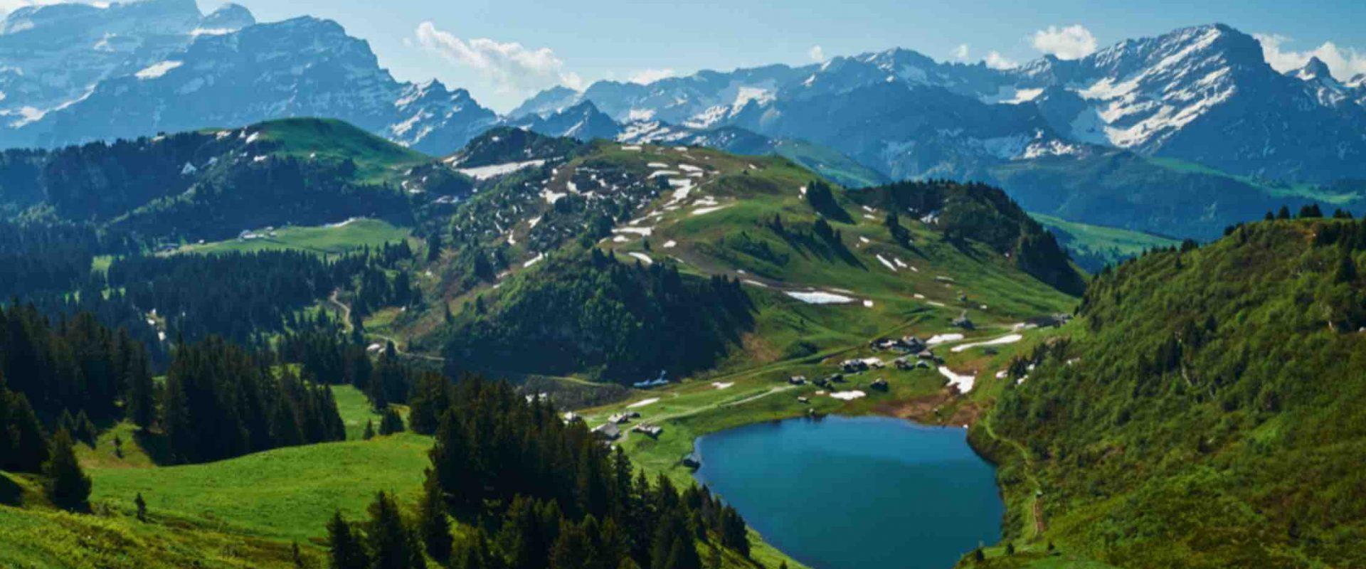 Countryside near Villars Switzerland