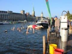 Impressions of Samichlausschwimmen Zurich