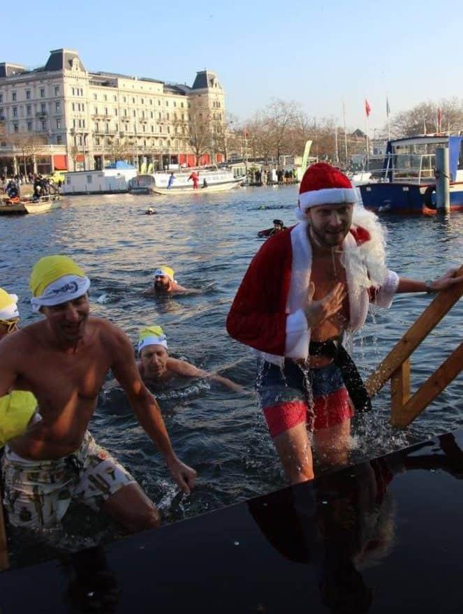 Impressions of Samichlausschwimmen Zurich 2016