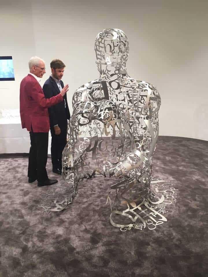 Jaume Plensa for Ruinart at Art Basel 2017