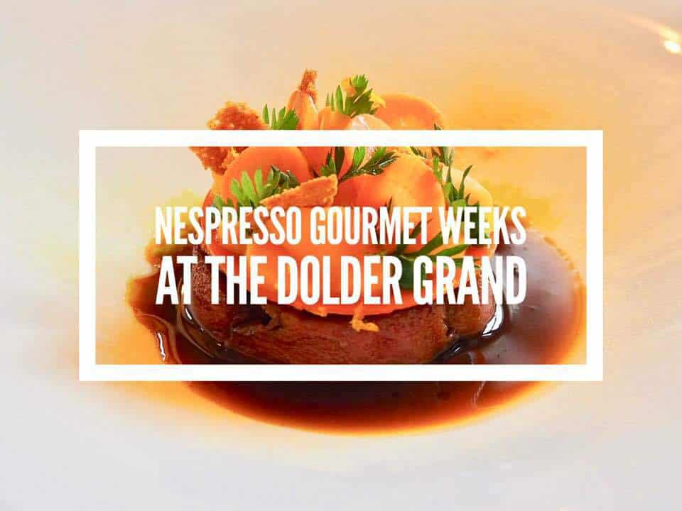 Nespresso Gourmet Weeks at the Dolder with Heiko Nieder