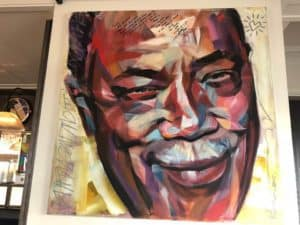 Quincy Jones Portrait at Funky Claude's Bar