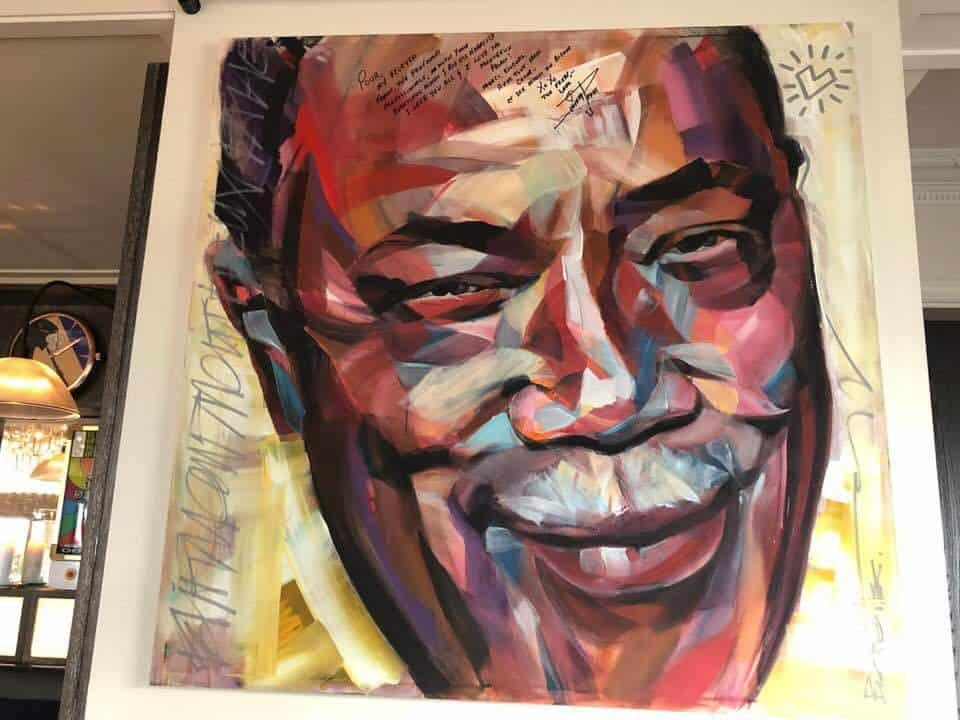 Quincy Jones Portrait at Funky Claude's Bar