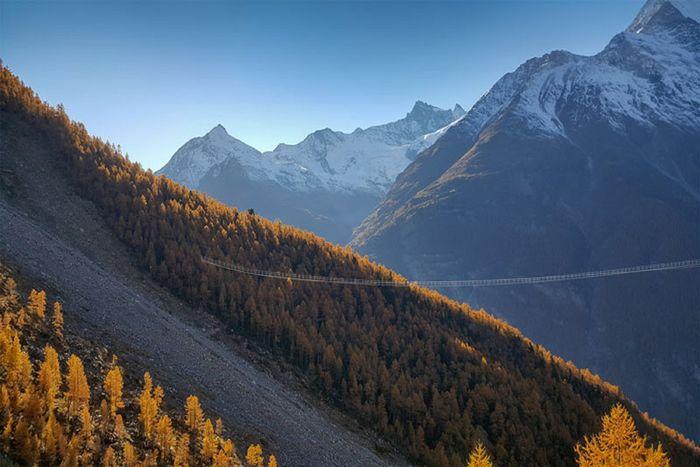 World's Longest Hanging Bridge Zermatt Switzerland