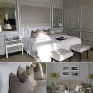 Bedrooms at the Fairmont Montreux Palace Hotel