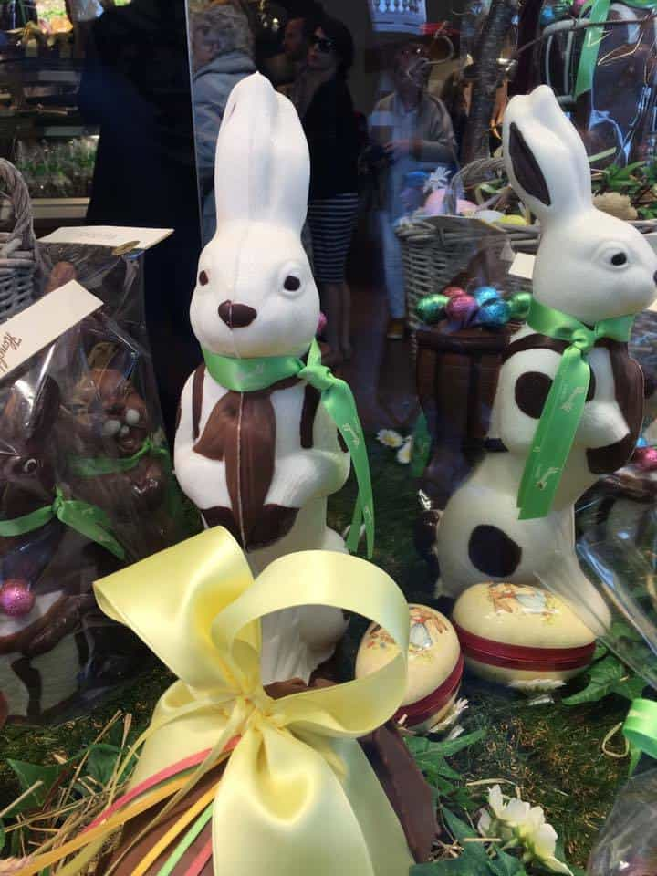 Chocolate bunnies at Honold Zurich