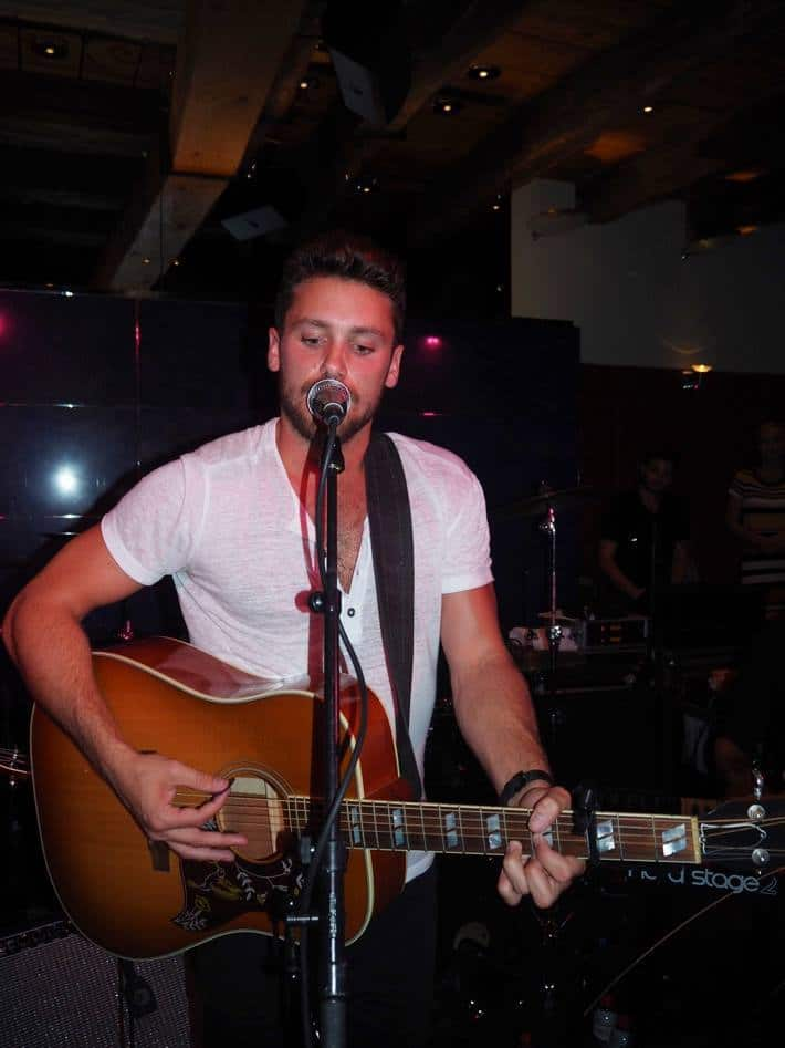 Singer Bastian Baker at Widder Bar and Kitchen
