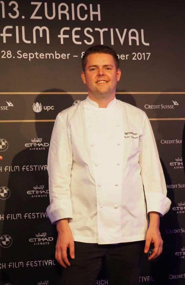 Stefan Heilemann Cooking with Nespresso at ZFF2017