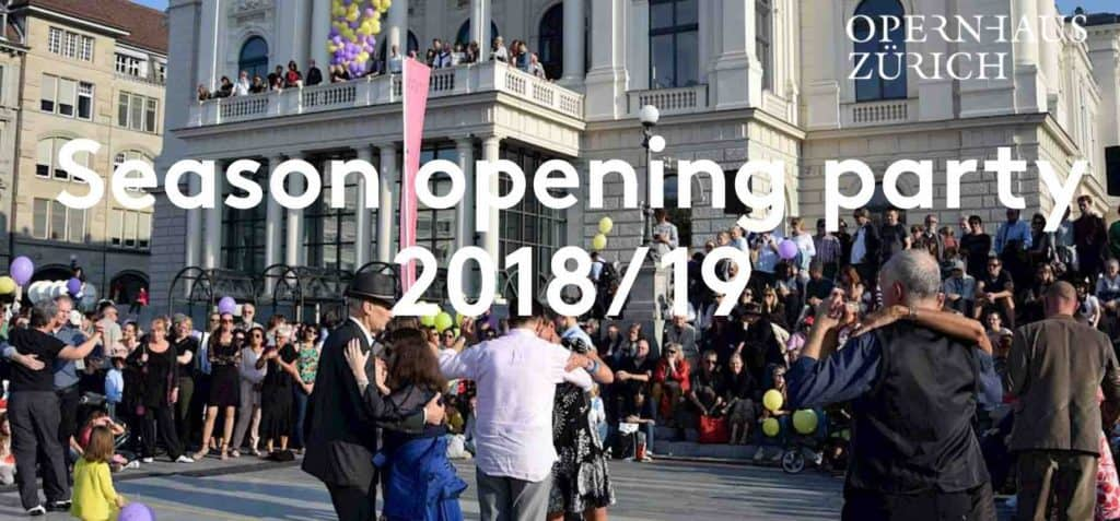 Zurich Opera house open day and Season Opening