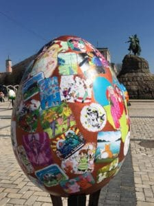 The Annual Easter Egg Display in Kiev Ukraine