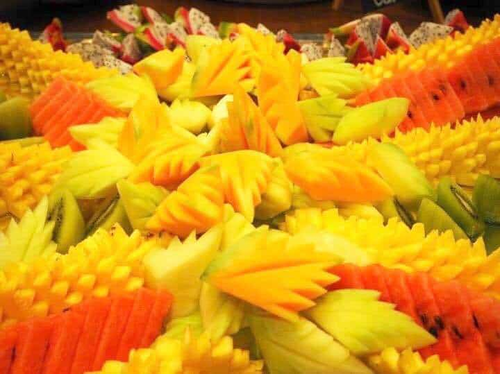 Exotic fruit selection at Marriott Hotel Zurich brunch