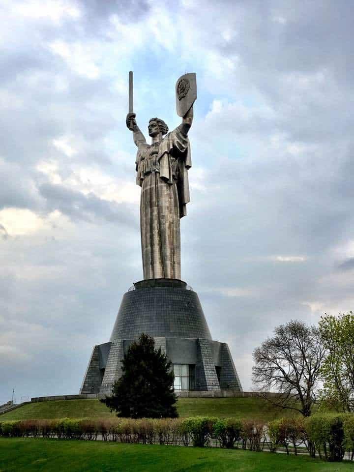 Statue at Kiev War museum