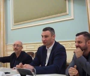 Mayor of Kiev, Vitali Klitschko, ex heavy weight boxer