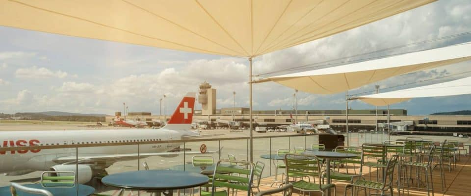 Sports Bar with Outdoor Terrace at Zurich Airport