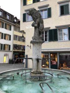 Lion Fountain in Baden Switzerland