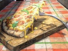 Hungry? 3D Pizza at Zurich Hauptbahnhof