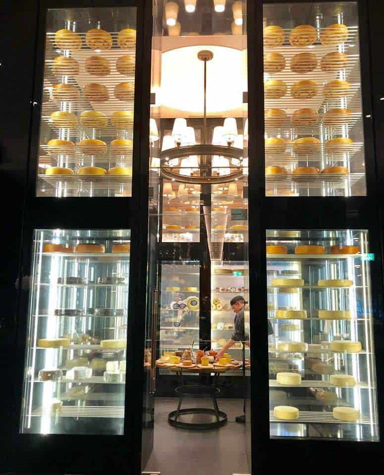 The cheese Tower at the Chedi Andermatt