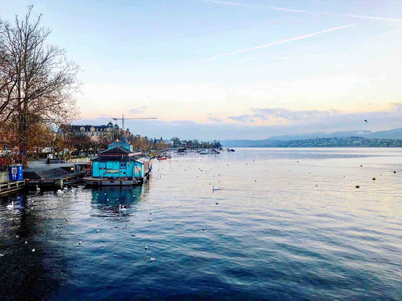 Die Herzbaracke on Lake Zurich