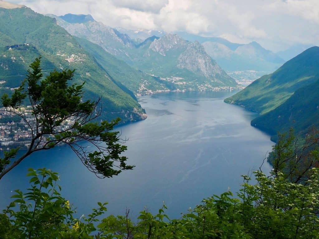 Top Views of Lake Lugano from Monte San Salvatore