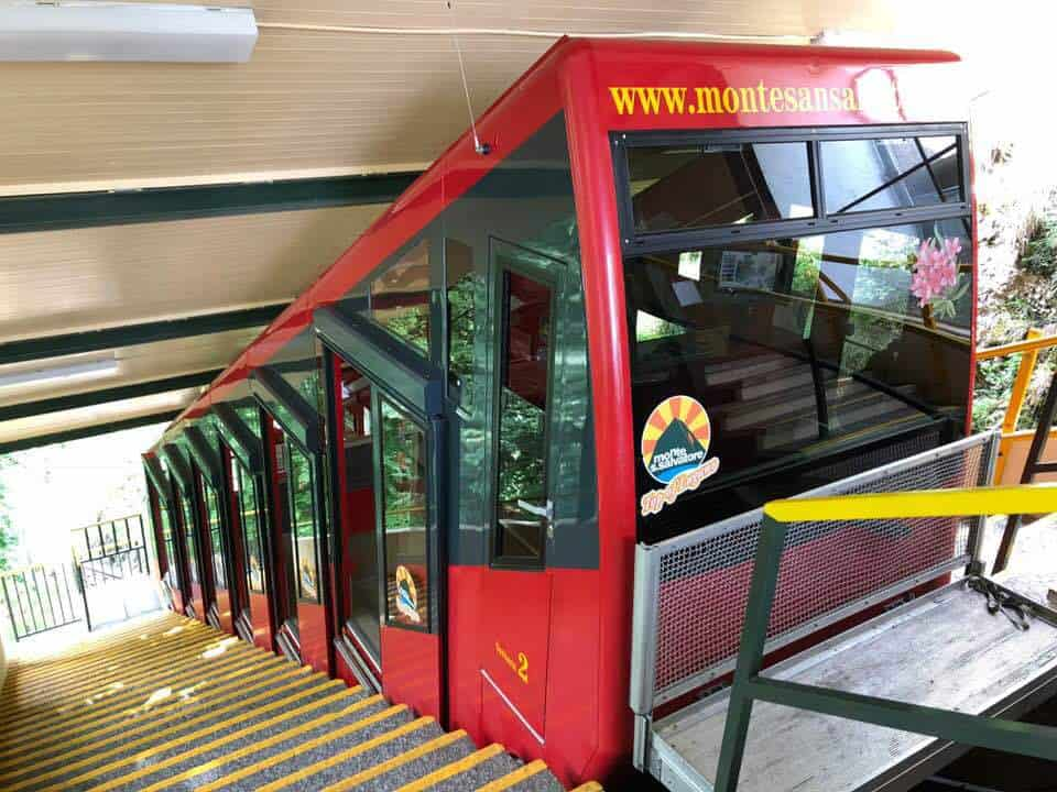 Funicular train to Monte San Salvatore Lugano Switzerland