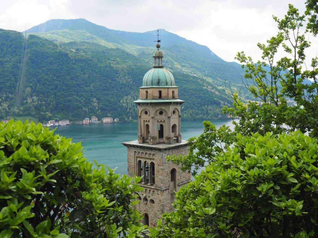 The Church Tower Madonna de Sasso Morcote Switzerland