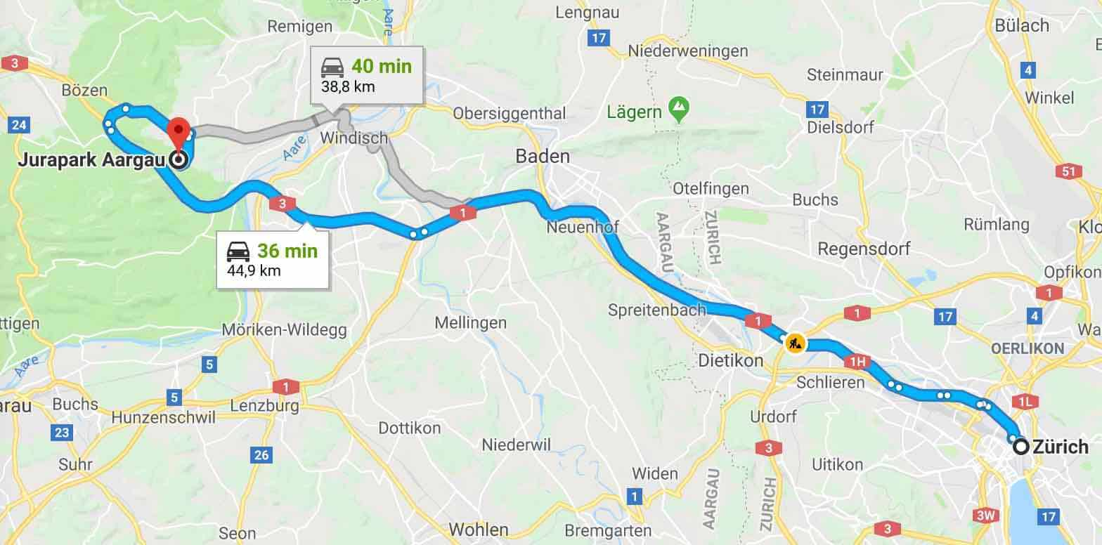 Google Maps to Frick for Chriesiwäg