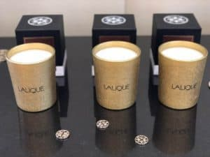The Lalique candle collection