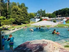 Swimming and Minigolf at the Dolder Bad Zurich