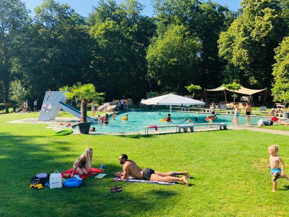 Swimming and Minigolf at the Dolder Bad Zurich