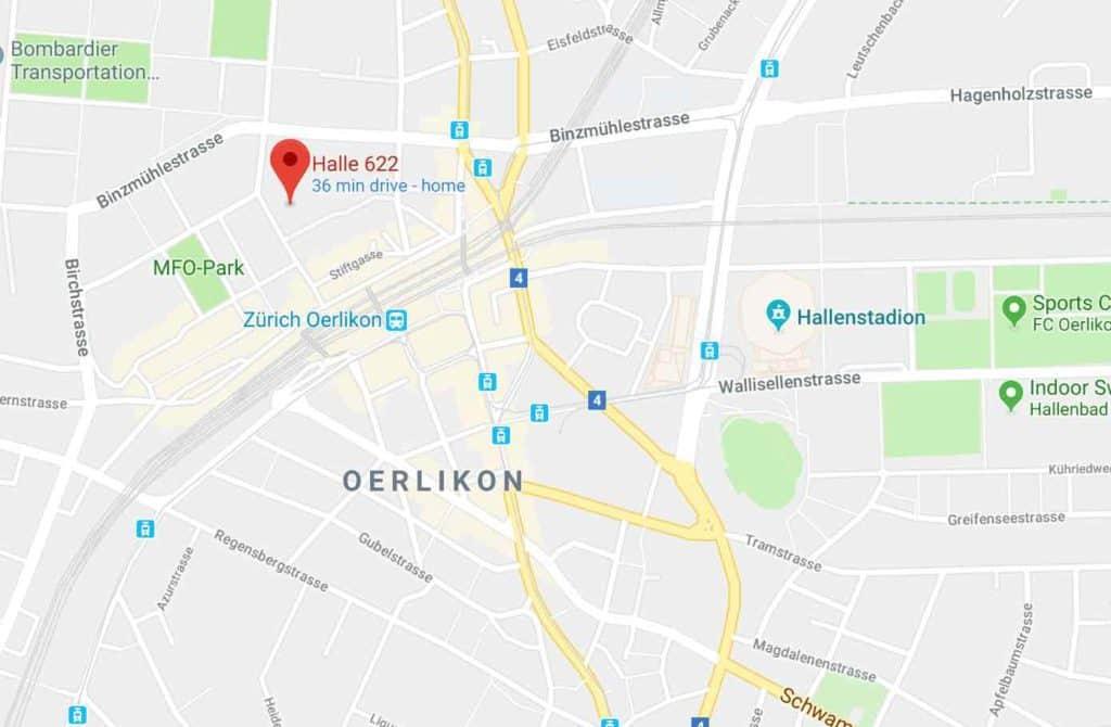 Google Maps Halle 622 Zurich Oerlikon