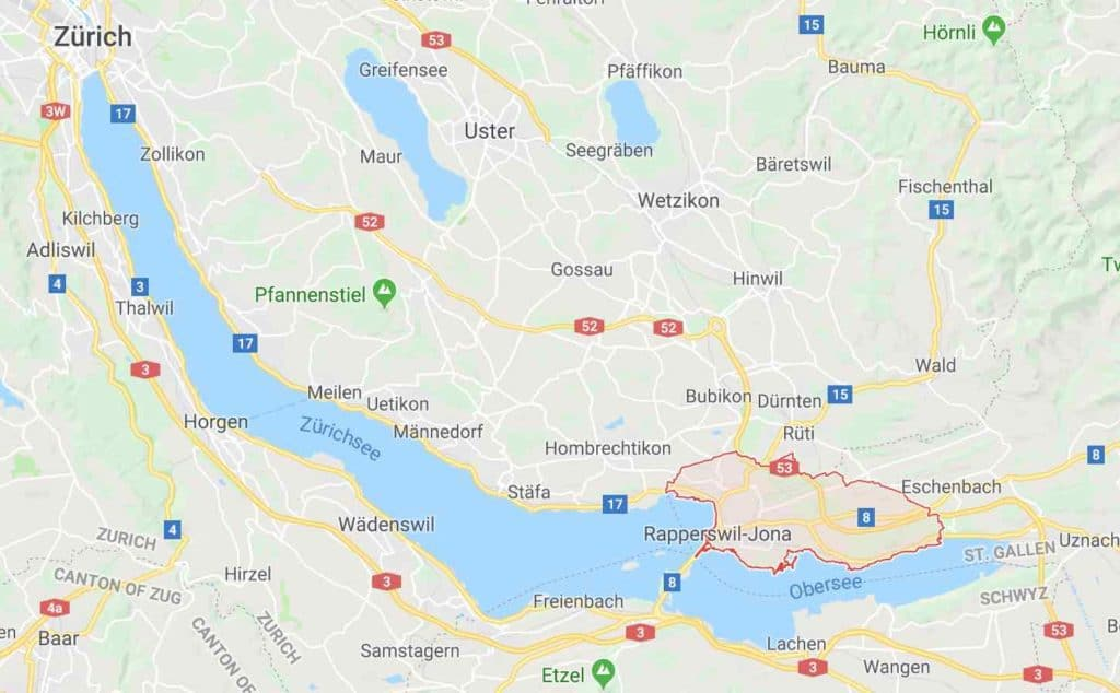Google map Rapperswil