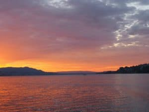 Sunset on ZSG Cruise on Lake Zurich