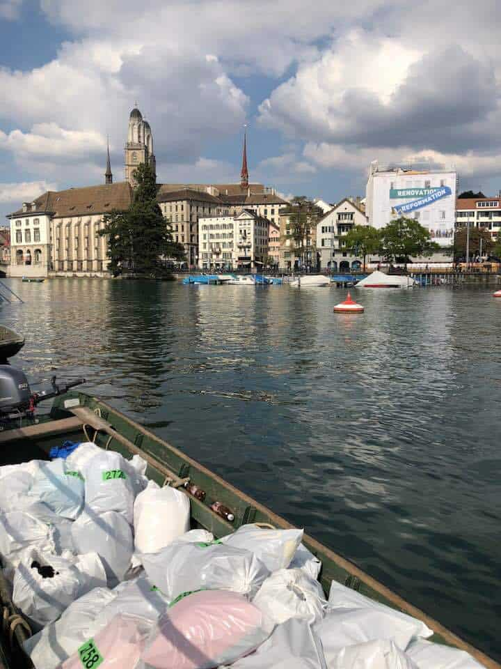 The Limmat swim in Zurich