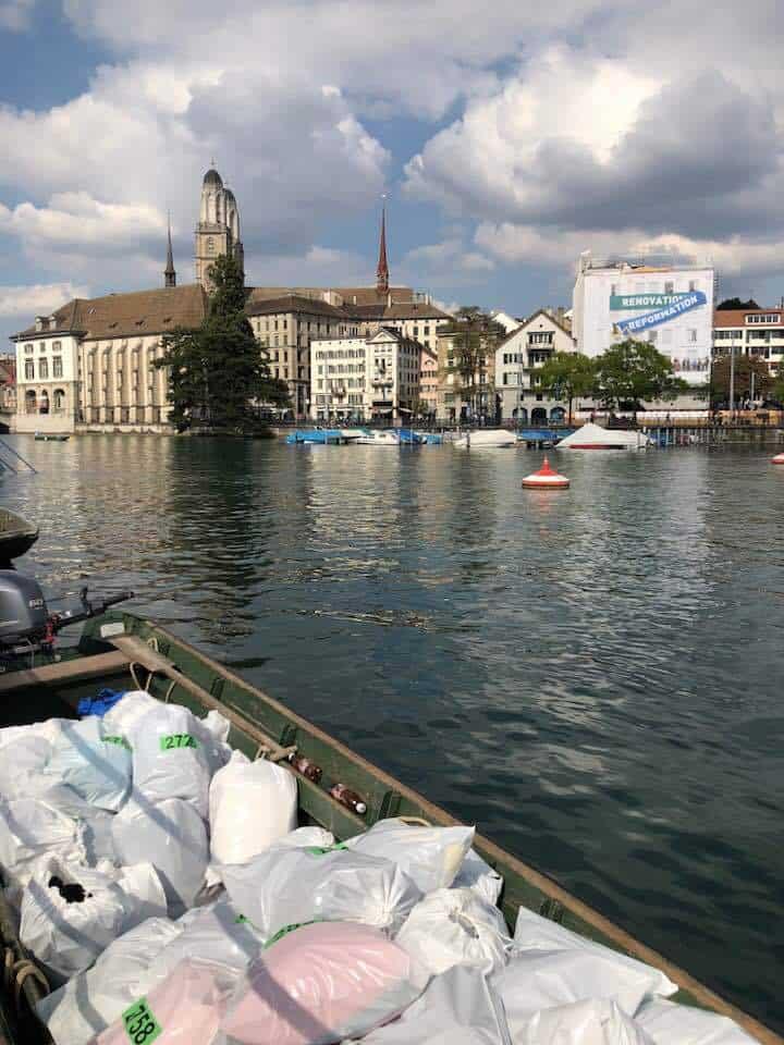 The Limmat swim in Zurich
