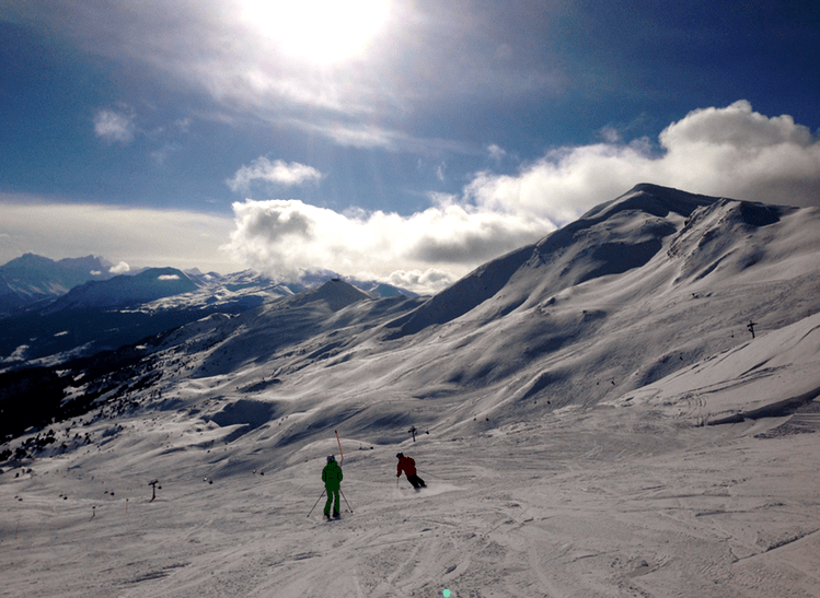 Skiing in Lenzerheide