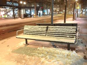 Bahnhofstrasse in Zurich in the snow