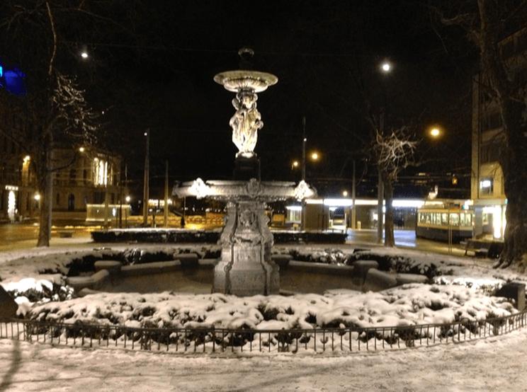 Stadelhofen in the snow