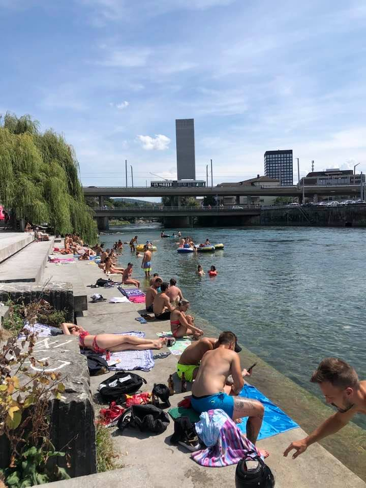 Floating Your Rubber Boat Down River in Zurich