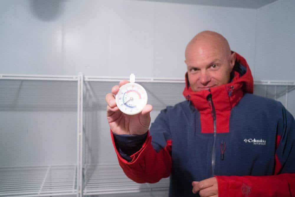 Testing Out Columbia Ski Wear In A Fridge in Zurich!