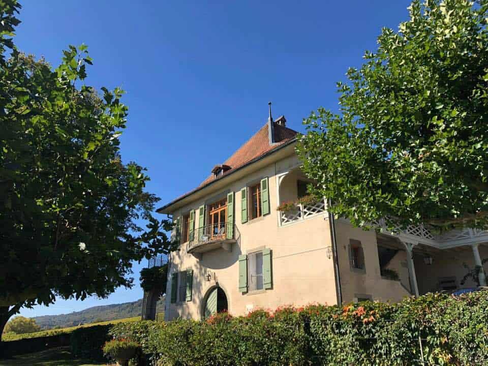 Chateau de Chatagnereaz and Vineyards Switzerland