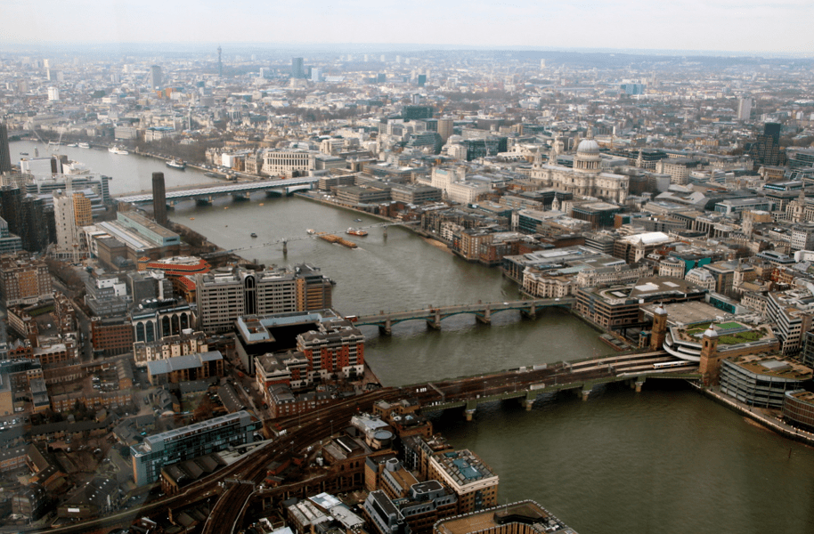 View over the Tames from the Shard ©Ne