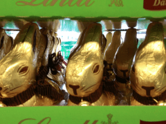Chocolate Bunnies in Zurich… they're everywhere! In the run up to the Salon du Chocolat in Zurich
