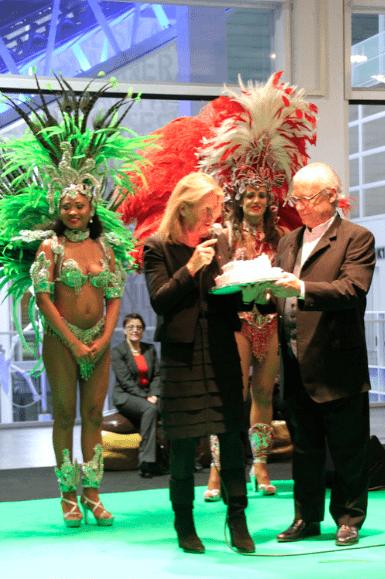 Syvie Douce's birthday celebrations at Salon du Chocolat in Zurich