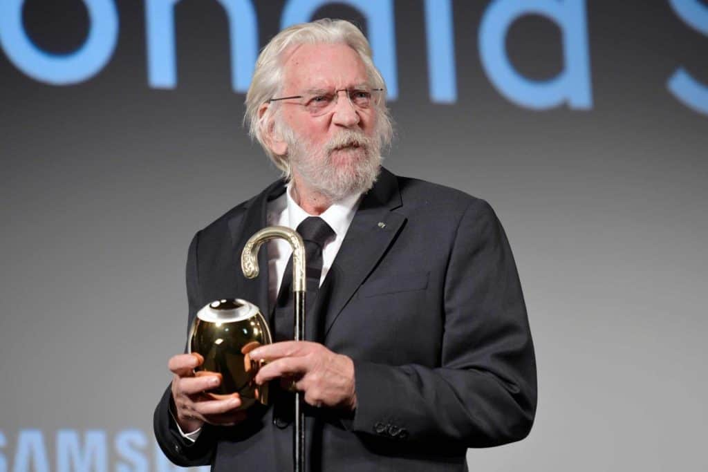 Donald Sutherland receives Aeard at zurich Film Festival 2018